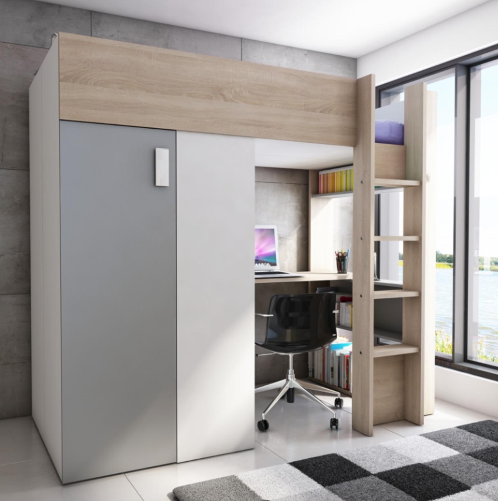 De hoogslaper d oplossing voor ruimtegebrek in de slaapkamer - Geschilderd slaapkamer model ...